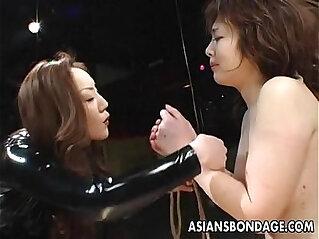 Asian bondage lezdom scene
