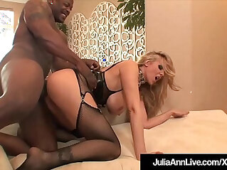 Milf julia ann anal pounded and cummed on by big black cocks