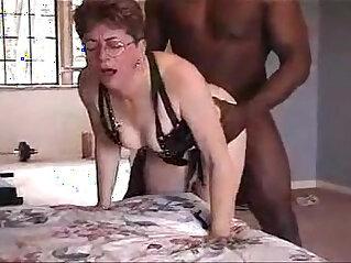 Lovely grandma gets fucked by black friend
