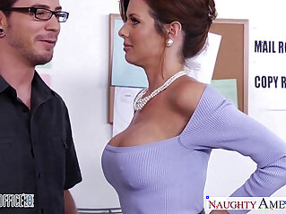 stockings: Stockinged veronica avluv fuck in the office