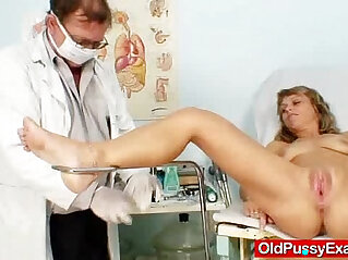 lady: Thin lady naughty twat gyno inspection