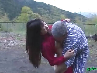 Asian Girl Getting Her Pussy Licked And Fucked By Old Man Cum To Ass Outdoor