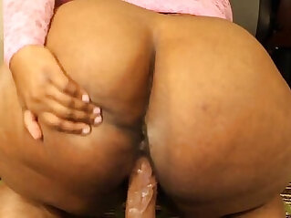 booty: bog booty freak plays with toy