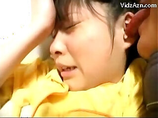 Young black Girl In Yellow Pijama Getting Her Pussy Licked Fingered Fucked On The Bed